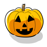ハロウィンかぼちゃのフリーイラスト