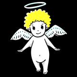 かわいい天使のフリーイラスト