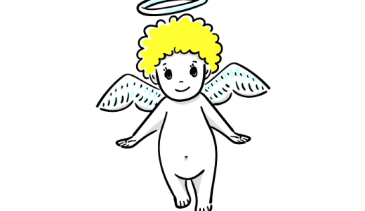 かわいい赤ちゃん天使の無料イラスト