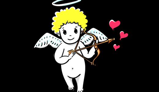 天使のキューピットのフリーイラスト