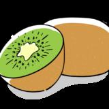 キウイフルーツの無料イラスト素材