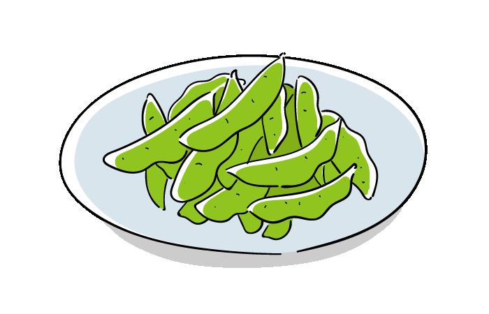 枝豆のフリーイラスト素材