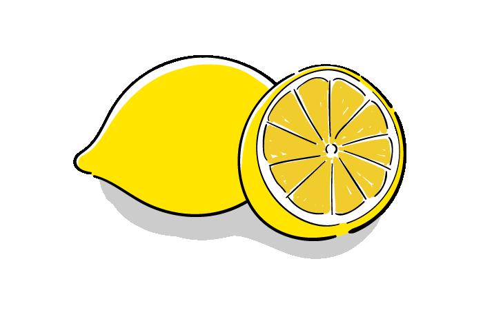 レモンの無料イラスト素材 おしゃれでかわいいフリーイラスト素材