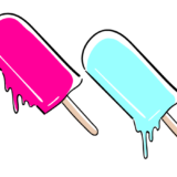 アイスキャンディーの無料素材イラスト