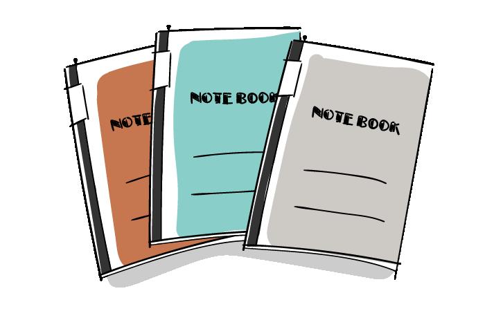 ノートの無料素材イラスト おしゃれでかわいいフリーイラスト素材