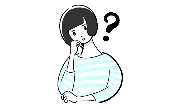 悩む女性のフリーイラスト素材