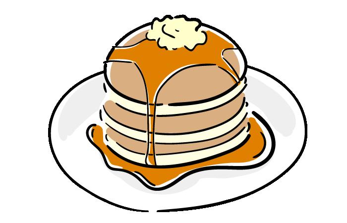 パンケーキのフリーイラスト素材 おしゃれでかわいいフリーイラスト