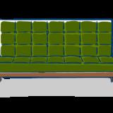 緑色ソファーのフリーイラスト素材