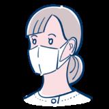 マスクをした女性看護師のフリーイラスト素材