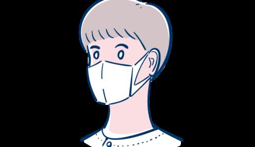 マスクをした男性看護師のフリーイラスト素材