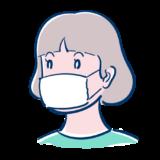 マスクをした女の子のフリーイラスト素材