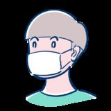 マスクをした男の子のフリーイラスト素材