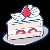 いちごのショートケーキのフリーイラスト素材