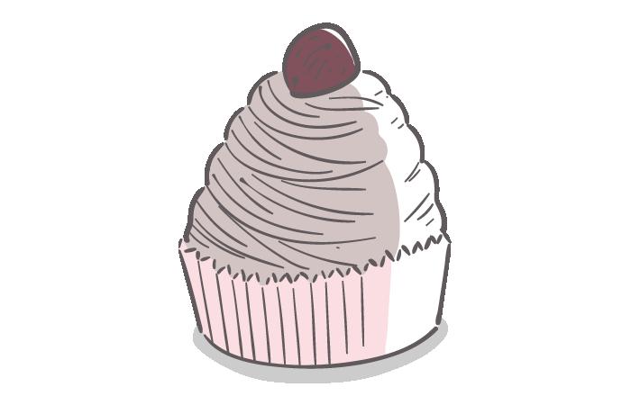 モンブランケーキのフリーイラスト素材