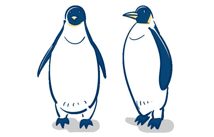 コウテイペンギンのフリーイラスト素材