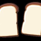 食パン2枚のフリーイラスト素材