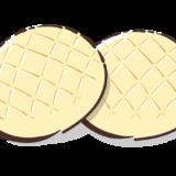 メロンパンのフリーイラスト素材