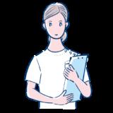 書類を持った看護師のフリーイラスト素材