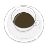 ホットコーヒーの無料イラスト