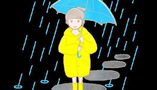 傘をさす少女の無料イラスト