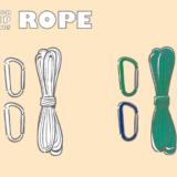 アウトドア用ロープのフリーイラスト素材になります。