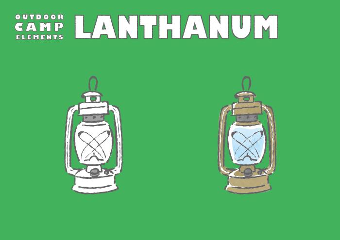 キャンプ用ランタンのフリーイラスト素材