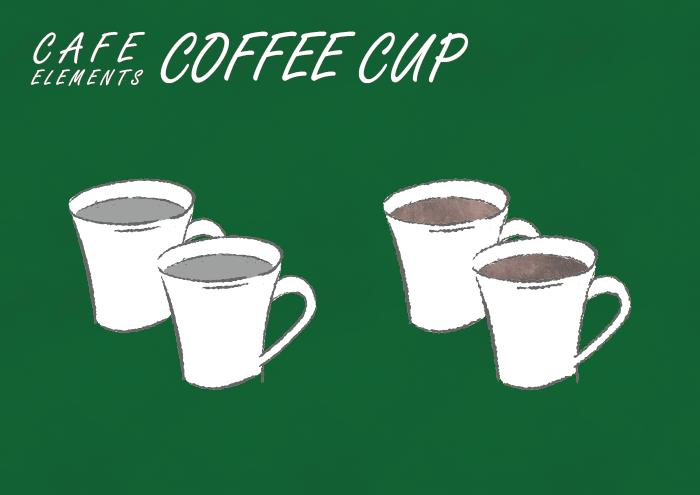 コーヒーカップのフリーイラスト素材