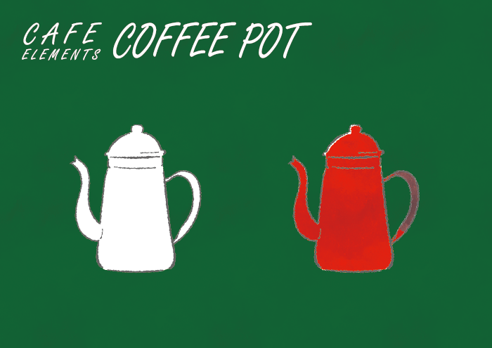 コーヒーポットのフリーイラスト素材