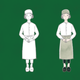 女性カフェ店員さんのフリーイラスト素材
