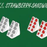 いちごのサンドウィッチのフリーイラスト素材