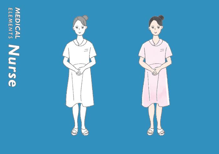 女性看護師さんのフリーイラスト素材