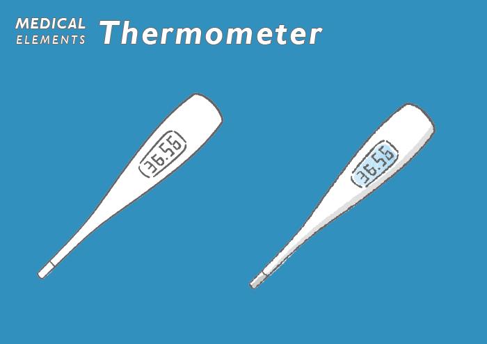体温計のフリーイラスト素材