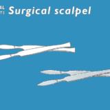 手術用メスのフリーイラスト素材
