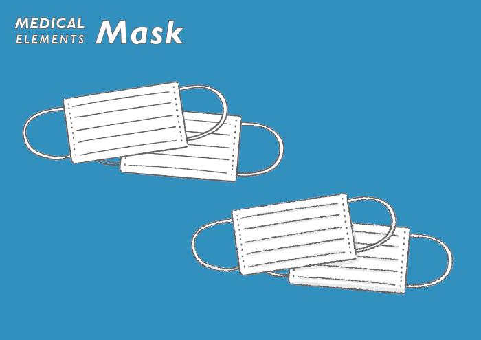 マスクの無料イラスト素材